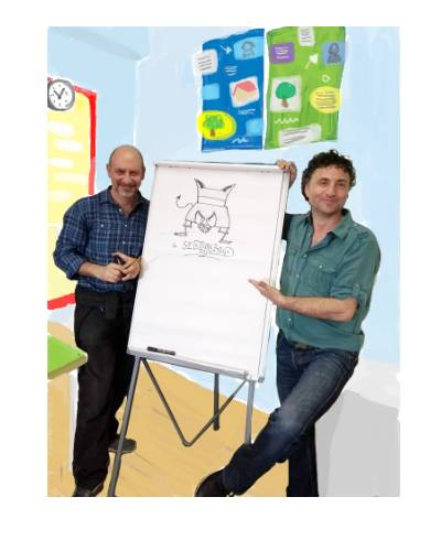 Giuseppe Bordi e Domenico la Cava fondatori dcasa editrice Lupo Blu