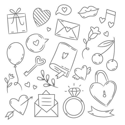 Icone di san valentino - la scatola dei giochi