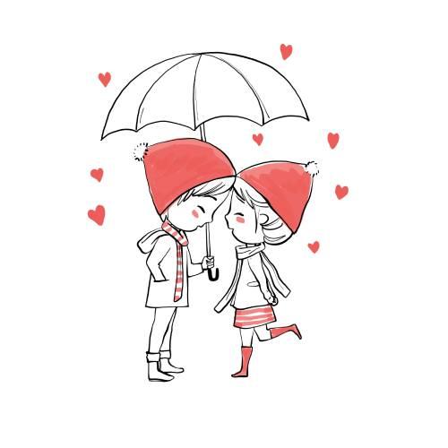 bambini con ombrello san valentino - la scatola dei giochi