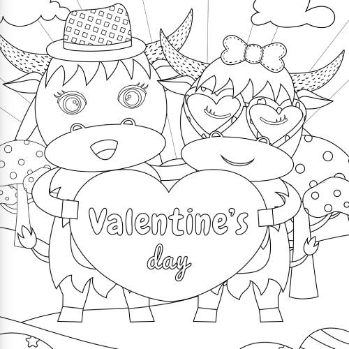 bufalini con cuore san valentino - la scatola dei giochi
