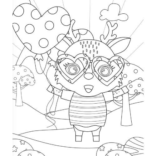 bufalino con palloncino cuore san valentino - la scatola dei giochi