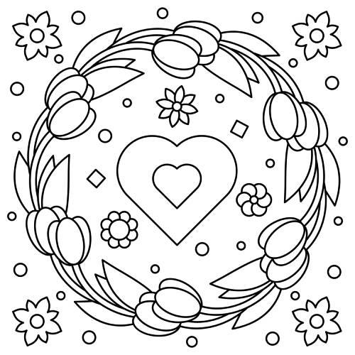 cuore con fiori san valentino - la scatola dei giochi