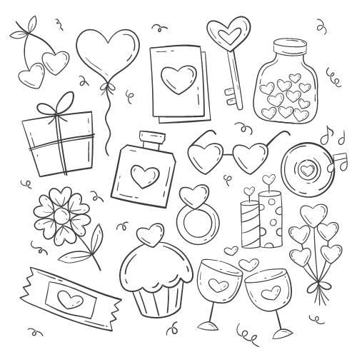 cuore icone di san valentino - la scatola dei giochi