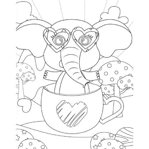 elefante in tazza san valentino - la scatola dei giochi