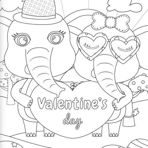 elefanti cuore san valentino - la scatola dei giochi