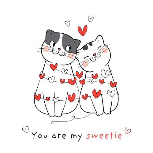 gatti con cuoricini san valentino - la scatola dei giochi