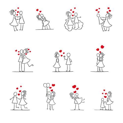 icone di coppie san valentino - la scatola dei giochi