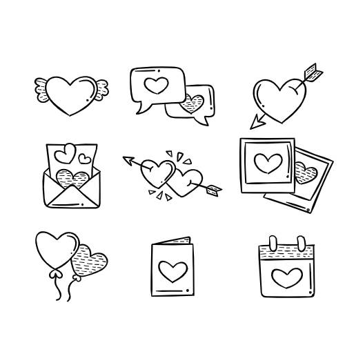 icone giorno di san valentino - la scatola dei giochi
