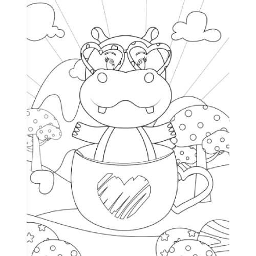 ippopotamo in tazza san valentino - la scatola dei giochi