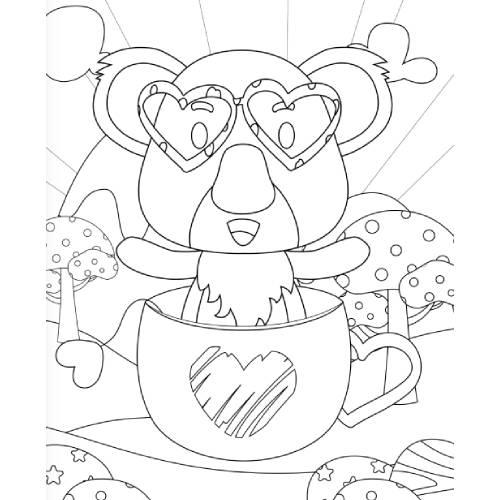 koala in tazza san valentino - la scatola dei giochi