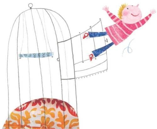 la macchina per fare i compiti di gianni rodari - bambino che esce da una gabbia
