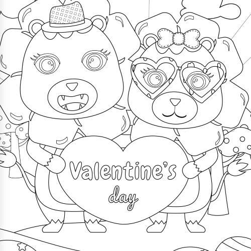 leoni con cuore san valentino - la scatola dei giochi