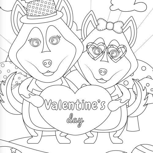 lupi con cuore san valentino - la scatola dei giochi