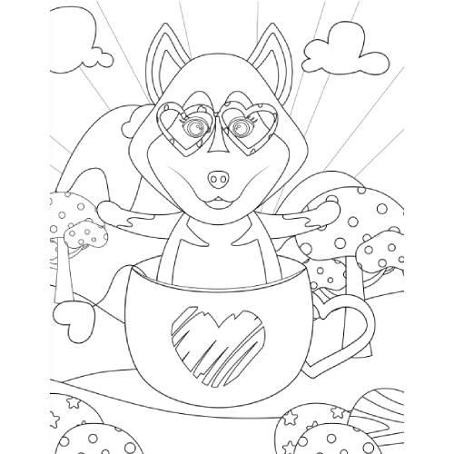 lupo in tazza san valentino - la scatola dei giochi