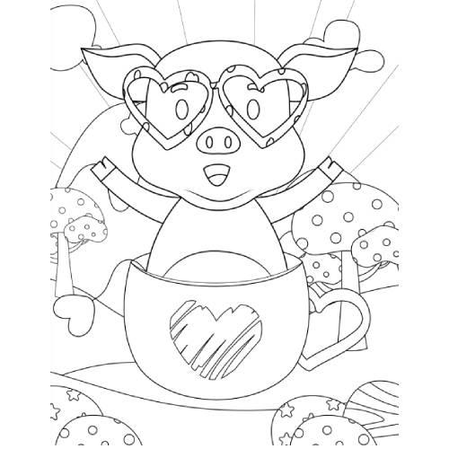 maialino in tazza san valentino - la scatola dei giochi