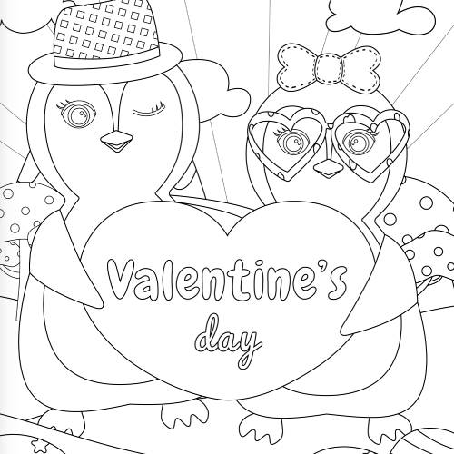 pinguini con cuore san valentino - la scatola dei giochi