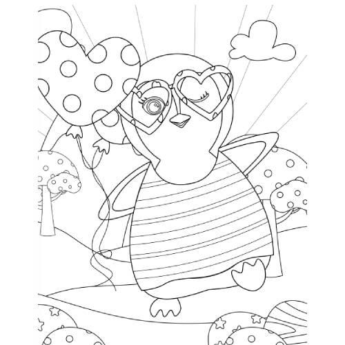 pinguino con cuore san valentino - la scatola dei giochi