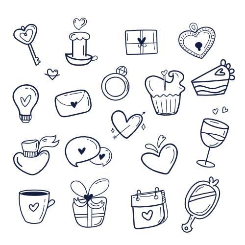 san valentino icone blu - la scatola dei giochi
