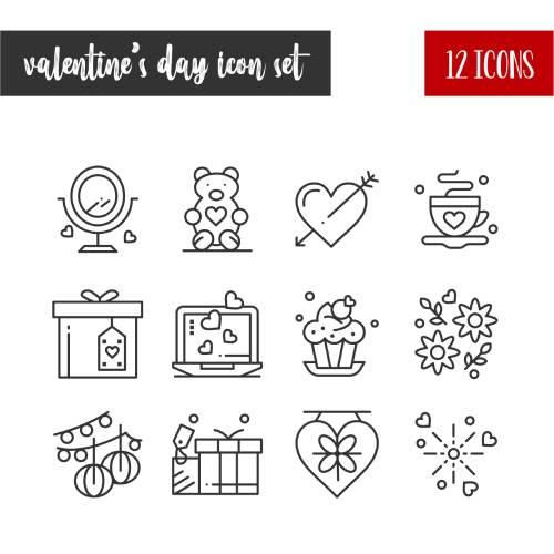 set icone san valentino - la scatola dei giochi
