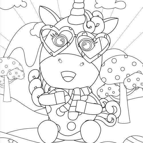 unicorno abbraccia cuore san valentino - la scatola dei giochi