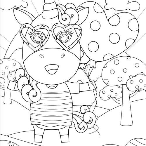unicorno con palloncino san valentino - la scatola dei giochi