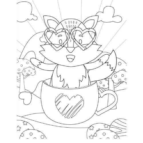volpe in tazza san valentino - la scatola dei giochi