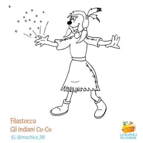 Filastrocca di Carnevale - Gli indiani Cu-Cu di Gianni Rodari