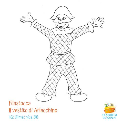 Filastrocca di Carnevale - Il vestito di Arlecchino di Gianni Rodari