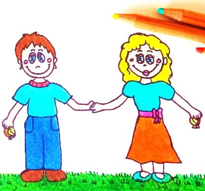 una sveglia molto preziosa due bambini si tengono per mano migliori amici
