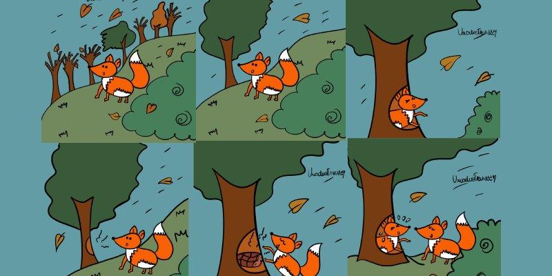 la volpe con la pancia piena