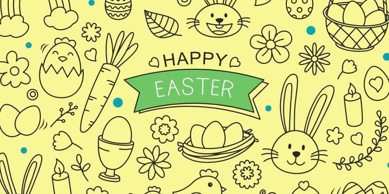 Disegni di Pasqua da colorare