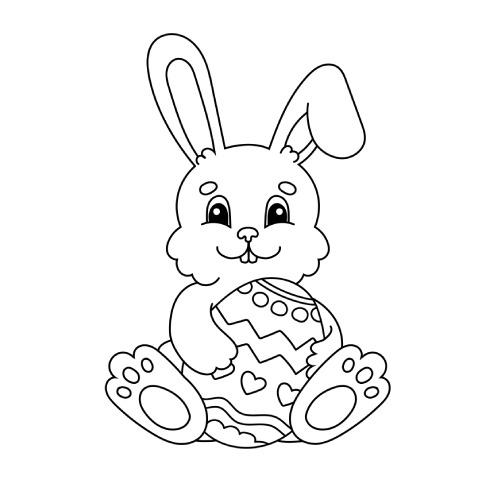 La scatola dei giochi - coniglietto da colorare