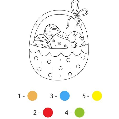 La scatola dei giochi - uova di pasqua da colorare con colori