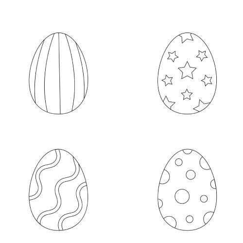 La scatola dei giochi - uova di pasqua da colorare